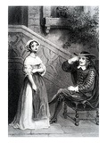 Agnes with Her Guardian Arnolphe, from 'The School for Wives', by Moliere (Engraving) Giclee Print by  French