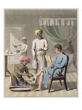 A Gentleman Dressing, Attended by His Head Bearer, and Other Servants, Plate 4 Giclee Print by Charles D'oyly
