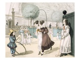 The Skipping Game, Plate 115 from 'Le Bon Genre', 1822 (Coloured Engraving) Giclee Print by  French