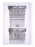 Capitals from the Temple Near the Roman Baths, Nimes Giclee Print by  French