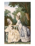 Ladies' Morning Dress, 1771 (Colour Engraving) Giclee Print by  Carmontelle
