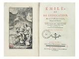 Frontispiece for 'Emile' by Jean-Jacques Rousseau, 1762 (Engraving) Giclee Print by Netherlandish