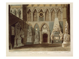 South View of Poet's Corner, Plate 27 from 'Westminster Abbey', Engraved by J. Bluck (Fl.1791-1831) Giclee Print by A.c. Pugin
