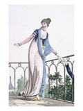 Furtive Correspondance, Illustration from 'Modes Et Manieres Du Jour a Paris' (Coloured Engraving) Giclee Print by Philibert Louis Debucourt