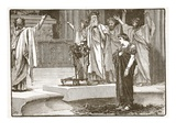 Alexander at the Temple of Jupiter Ammon (Litho) Giclee Print by  English