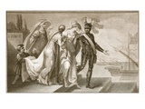 Richard I Leaving Cyprus, Engraved by J. Fittler Giclee Print by Henry Tresham