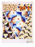 Interior Design Pattern, Plate 2 from 'Inspirations', Published Paris, 1930S (Colour Litho) Giclee Print by Gandy