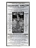 Poster Advertising 'Excursions Hamilton', C.1890 (Litho) Giclee Print by  French