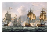 Capture of the Dorothea, July 15th 1798, Engraved by Thomas Sutherland Giclee Print by Thomas Whitcombe