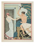 Choleric Rage, Illustration from 'The Works of Hippocrates', 1934 (Colour Litho) Giclee Print by Joseph Kuhn-Regnier