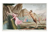 Syrinx into a Reed, Book I, Illustration from Ovid's Metamorphoses, Florence, 1832 Giclee Print by Luigi Ademollo