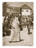 Carriers Starting from Cape Coast Castle for Kumassi Giclee Print by Ernest Prater