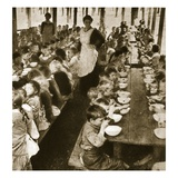 Berlin: Soup at the Orphanage (Sepia Photo) Giclee Print by  German photographer