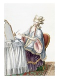 Elegant Lady at Her Dressing Table, Plate from 'Galerie Des Modes Et Costumes Francais' Reproduction procédé giclée par Pierre Thomas Le Clerc