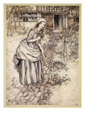 Maidens Call it Love-In-Idleness, Illustration from 'Midsummer Nights Dream' by William Shakespeare Giclee Print by Arthur Rackham