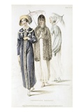 Promenade Dresses, Fashion Plate from Ackermann's Repository of Arts (Coloured Engraving) Giclee Print by  English