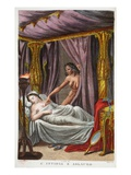 Aglauros and Envy, Book II, Illustration from Ovid's Metamorphoses, Florence, 1832 Giclee Print by Luigi Ademollo