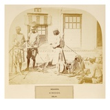 Weavers, Hindoos, Delhi, from 'The People of India', by J. Forbes Watson, Published 1868 Giclee Print by  English Photographer