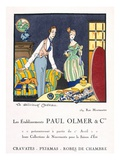 Advertisement for Paul Olmer's Summer Collection, C.1920S (Pochoir Print) Giclee Print by Felix A.M. Jobbe-Duval