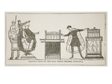 Harold's Oath on the Holy Relics, Copy of the Bayeux Tapestry (Litho) Giclee Print by  French