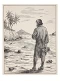 Robinson Crusoe on His Island Giclee Print by  English