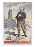 Caricature from the Catholic Magazine &#39;Le Pelerin&#39;, Referring to the French Government&#39;s Policy Giclee Print by A Lemot