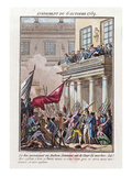 Louis XVI Appearing on the Balcony at Versailles on 6 October 1789 Giclee Print by Jean-francois Janinet