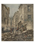 Serious Troubles in Italy: Riots in Milan Giclee Print by  French