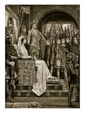 The Assembly at Windsor, 1126, Illustration from 'Hutchinson's Story of the British Nation', C.1923 Reproduction procédé giclée par Richard Caton II Woodville