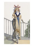 A Country Style Walking Dress, Illustration from 'Journal Des Dames Et Des Modes', 1797 Giclee Print by  French