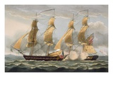 Capture of the Argus, August 14th 1813, from &#39;The Naval Achievements of Great Britain&#39; Giclee Print by Thomas Whitcombe