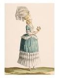 Caraco a La Polanaise, Engraved by Dupin, from 'Galeries Des Modes Et Costumes Francais', C.1778-87 Premium Giclee Print by Claude Louis Desrais