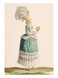 Caraco a La Polanaise, Engraved by Dupin, from 'Galeries Des Modes Et Costumes Francais', C.1778-87 Giclee Print by Claude Louis Desrais