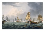 Lord Howe&#39;s Victory, 1st June 1794, Engraved by Thomas Sutherland Giclee Print by Thomas Whitcombe
