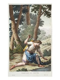Narcissus into a Flower, Book III, Illustration from Ovid's Metamorphoses, Florence, 1832 Giclee Print by Luigi Ademollo