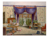 The Chinese Room at Middleton Park, Oxfordshire, 1840 (W/C on Paper) Giclee Print by  English