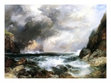 Castle in Scotland, 1910 (Oil on Board) Giclee Print by Thomas Moran