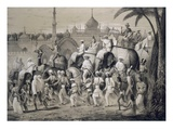 Lucknow, the Principal Street, from 'Voyages in India', 1859 (Litho) Giclee Print by A. Soltykoff