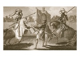 Richard II Suspending the Duel Between Hereford and Norfolk Giclee Print by Henry Tresham