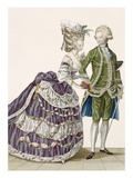 Young Woman and Her Husband Attending a Court Gala, Plate No.112 Giclee Print by Pierre Thomas Le Clerc