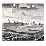 Dutch East India Company Wood or Saw Mill on the Island Two Miles from Batavia Giclee Print by Johann Wolfgang Heydt