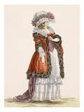 Young Lady's Promenade Dress, Engraved by Dupin, Plate No.214 Giclee Print by Francois Louis Joseph Watteau