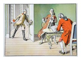 Surprise at the Flute (Colour Litho) Giclee Print by Carl Rochling