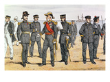 French Navy Uniforms, Late 19th Century (Colour Litho) Giclee Print by  German