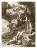Perseus Cuts Off Medusa's Head, 1731 (Engraving) Giclee Print by Bernard Picart