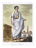 A Young Patrician, Illustration from &#39;L&#39;Antique Rome&#39;, Engraved by Labrousse, Published 1796 Giclee Print by Jacques Grasset de Saint-Sauveur