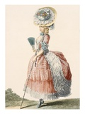 Ladies Promenade Dress, Engraved by Dupin, Plate from 'Galeries Des Modes Et Costumes Francais' Giclee Print by Claude Louis Desrais