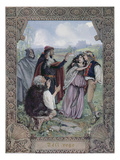 Illustration from 'The Winter's Tale' by William Shakespeare (1564-1616) C.1900 (Litho) Giclee Print by Christian August Printz