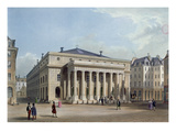 The Theatre De L&#39;Odeon, C.1830-40 (Colour Litho) Giclee Print by  French