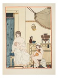 Nursing of Infants, Illustration from 'The Works of Hippocrates', 1934 (Colour Litho) Giclee Print by Joseph Kuhn-Regnier